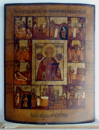 Russian Icon - St. Nicholas with Scenes of His Life and Miracles
