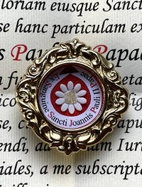 Rare documented reliquary theca with first-class Precious Blood relic of Saint Pope John Paul II