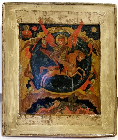 17c Russian Icon - The Archangel Michael, Chief Commender of the Heavenly Host (Protector from Invasion & Civil War)
