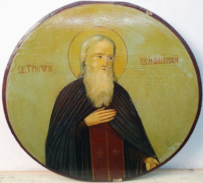 Russian Icon - Saint Venerable Gregory, Founder of Pelshem Monastery