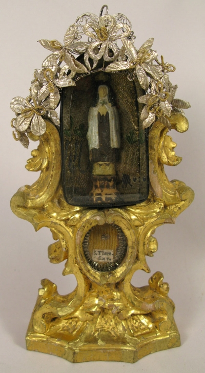 Reliquary monstrance with relic of Saint Teresa of Avila (of Jesus), Holy Patron of bodily ills