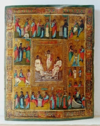 Russian Icon - The Resurrection & Orthodox Feasts