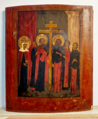 Russian Icon - The Exaltation of the True Lifegiving Cross