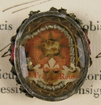 Documented theca with relics of St. Frances of Rome, Obl.S.B., Patron Saint of Widows and Car Drivers