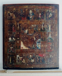 Russian Icon - The Resurrection, Orthodox Feasts & Selected Saints