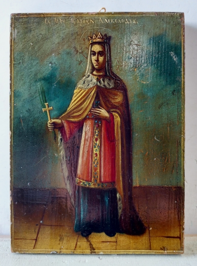 Russian Icon - St Princess-Martyr Alexandra of Rome