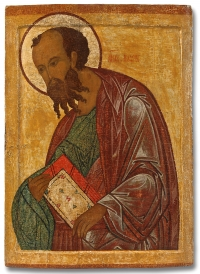 16c Russian Icon - Saint Paul, the Apostle from the Deesis Row of Iconostasis