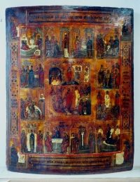 Russian Icon - The Resurrection, Orthodox Feasts & the Evangelists
