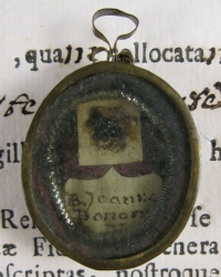 Documented theca with relics of the Blessed Giovanna Maria Bonomo