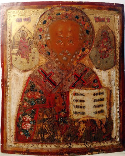 Russian Icon - Saint Nicholas, the Wonderworker of Myra