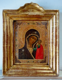 Russian Icon - Our Lady of Kazan in gilt frame
