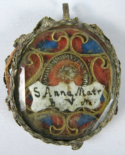 Theca with relic of Saint Anne, Mother of the Blessed Virgin Mary
