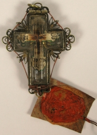 Crystal theca with relics of the True Cross of Jesus Christ
