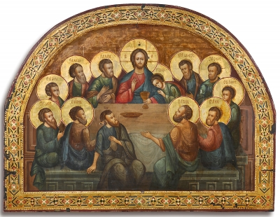 Russian Church Icon - The Last Supper from Iconostasis