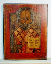 Russian Icon - St. Nicholas, Wonderworker of Myra