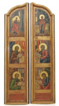 A Pair of Russian Orthodox Royal Doors from a Church iconostasis