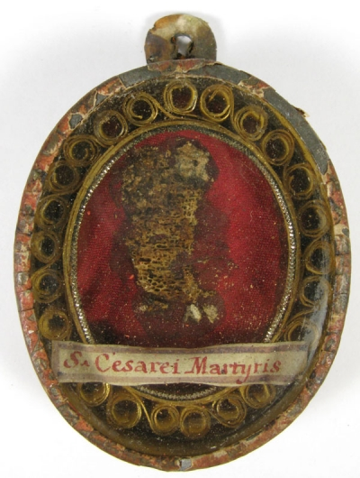 Large reliquary theca with relics of St Cesarius Martyr of Africa