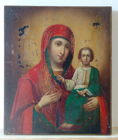 Russian Icon - Our Lady of Iveron