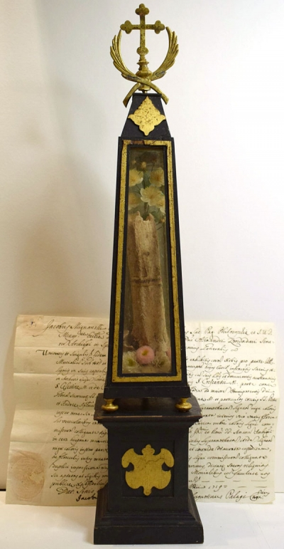 Documented reliquary with xlarge relic of Saint Crescentius of Rome, Martyr