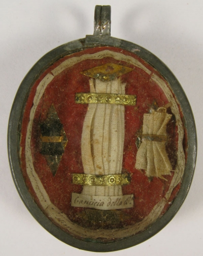 Reliquary theca with relics of Saint Mary Frances of the Five Wounds T.O.S.F.