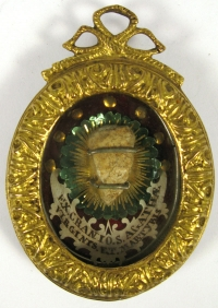 Reliquary theca with large first-class relic of Saint Martyr Agatha