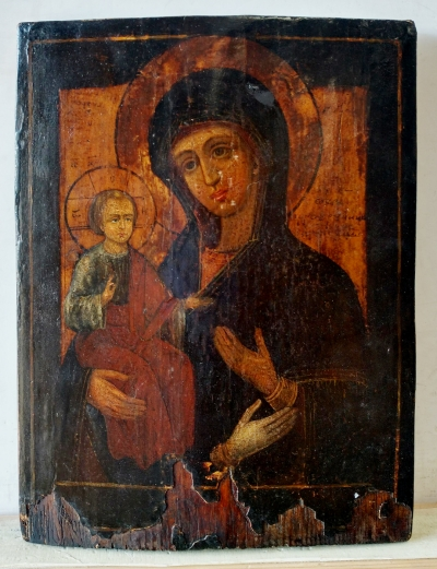 Russian Icon - The Three-Hand Mother of God