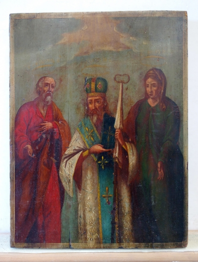 Russian icon - Three Orthodox Saints