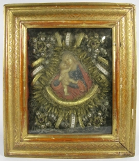 Frame Reliquary with relics of 4 Female Martyr Saints: St Justina, St Pacifica, St Simplicity & St Victoria