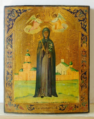 Russian Icon - St Venerable Euphrosyne of Polotsk, Holy Patron on Belarus
