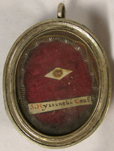 Theca with first class ex ossibus relic of Saint Hyacintha Mariscotti