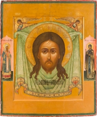 Large Russian Icon - The Holy Mandylion - Image of Christ Not Made by Human Hands