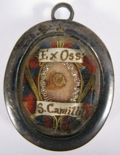Reliquary theca with relics of Saint Camillus de Lellis, Patron of the sick & doctors