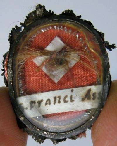 Reliquary theca with relic of Saint Francis of Assisi