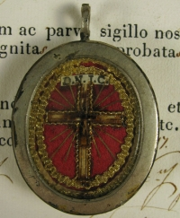 Documented reliquary with relics of the True Cross of Jesus Christ