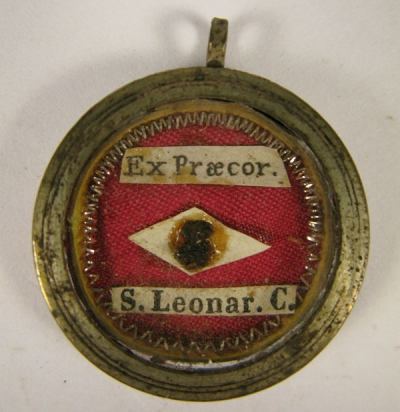 Theca with first-class relics of St Leonard of Port Maurice, O.F.M.
