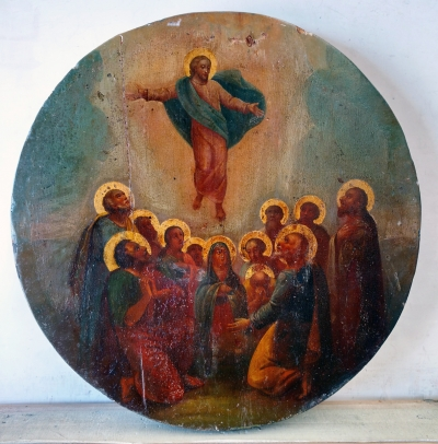 Russian Icon - The Ascension of Christ