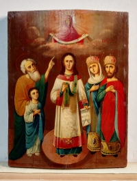 Russian icon - The Protection of the Most Holy Mother of God (Pokrov)