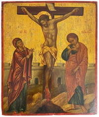 Greek Icon - Crucifixion of Christ