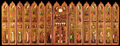 Large Russian Icon - 15-Panel Portable Iconostasis