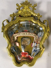 Reliquary theca with relics of St Alexander Sauli, Apostle of Corsica