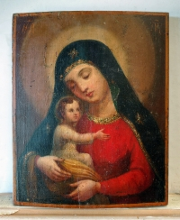 Russian Icon - Our Lady of Tenderness (Eleusa)