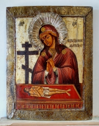 Russian Icon - Pieta or Don't Cry for Me Mother