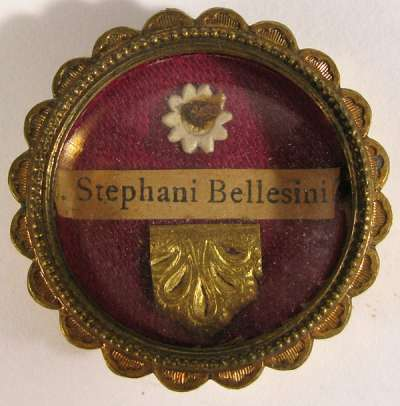 Reliquary theca with relics of Blessed Stephen Bellesini