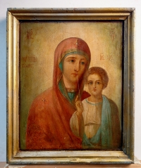 Double-sided Russian Icon - Our Lady of Kazan / St Nicholas