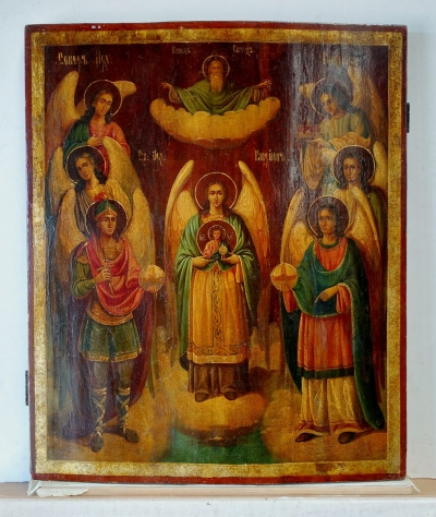 Russian icon - The Assembly of Archangel Gabriel