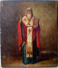 Russian icon - Saint Martyr Blaise, Bishop of Sebastea