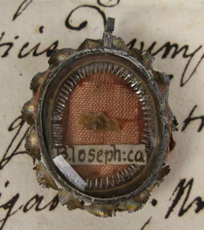 Documented theca with relics of St Joseph Calasanz (Josephus a Matre Dei)