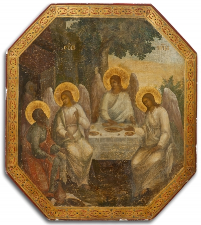 Russian Church Icon - the Old Testament Trinity (the Hospitality of Abraham)