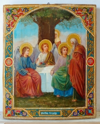 Russian Icon - The Old Testament Trinity (Hospitality of Abraham)