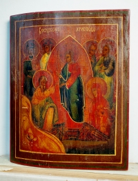 Russian icon - The Descent of Christ into the Hades